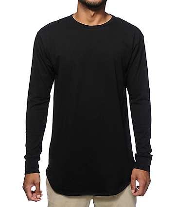EPTM Elongated Basic Drop Tail Long Sleeve T-Shirt