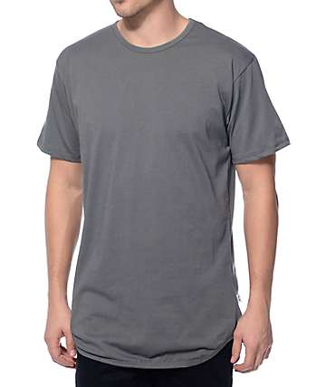 EPTM Elongated Fade Charcoal Long T-Shirt