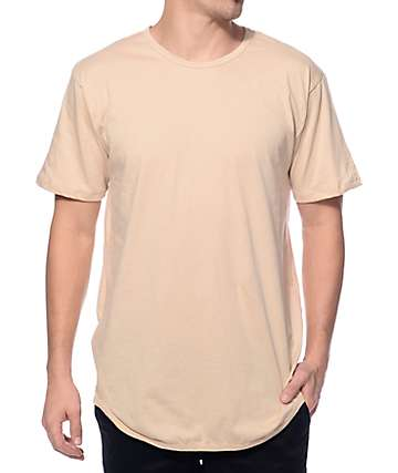 EPTM Elongated Sand Khaki Long T-Shirt