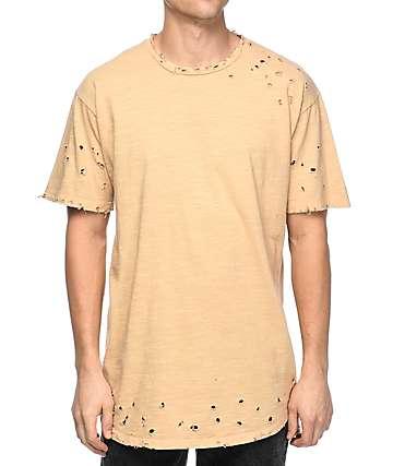 EPTM Slub OG 2.0 camiseta alargada en marrón