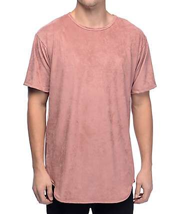 EPTM Suede Elongated Dusty Pink T-Shirt