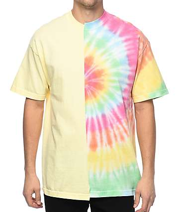 EPTM.  50⁄50 Tie Dye & Yellow T-Shirt