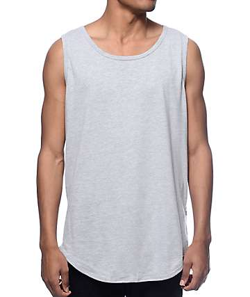 EPTM. Basic Heather Grey Long Tank Top