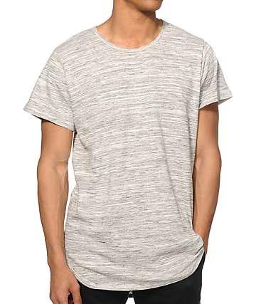 EPTM. Basic Marble camiseta larga con cola caída