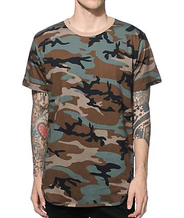 EPTM. Camo camiseta alargada