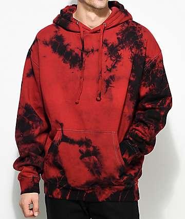 EPTM. Crystal Red Dye Hoodie