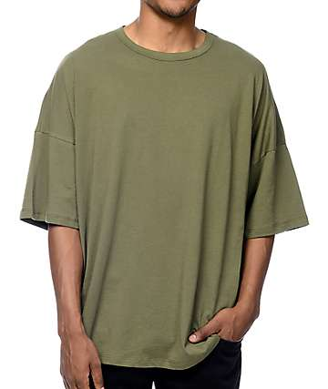 EPTM. Drop Shoulder Olive T-Shirt