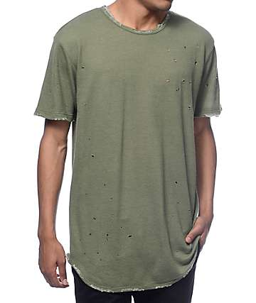 EPTM. Dubai OG Distressed Olive Long T-Shirt