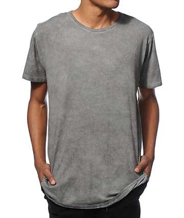 EPTM. Elongated Basic Drop Tail Oil Wash T-Shirt