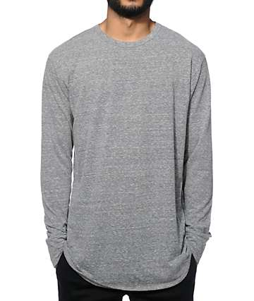 EPTM. Elongated Basic Long Sleeve Long T-Shirt