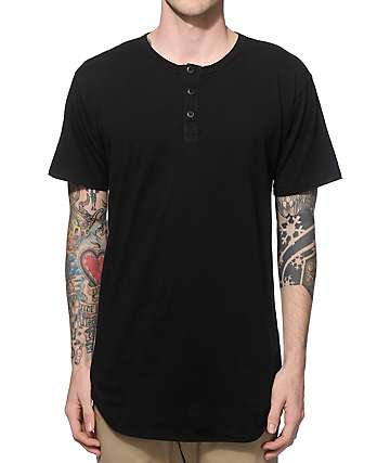 EPTM. Elongated Henley Long T-Shirt