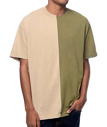 EPTM. Joker Split camiseta en caqui y color olivo