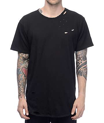 EPTM. LT Thrashed OG Black Elongated T-Shirt