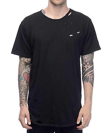 EPTM. LT Thrashed OG Black Elongated T-Shirt