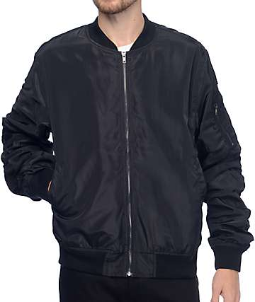 EPTM. Lightweight Black Bomber Jacket
