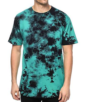 EPTM. Mint & Black Tie Dye Elongated 2.0 T-Shirt