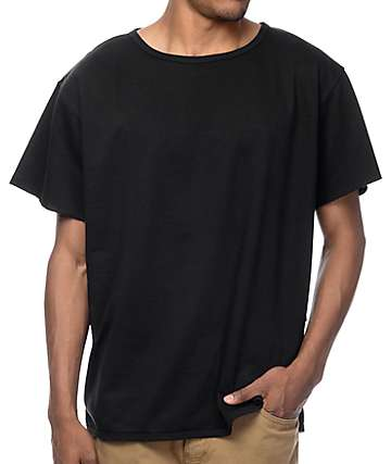 EPTM. Oversized Terry Black Muscle T-Shirt