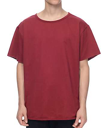 EPTM. Oversized Terry Burgundy Muscle T-Shirt