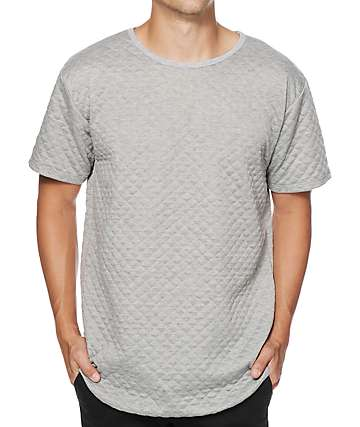EPTM. Quilted Elongated Drop Tail T-Shirt