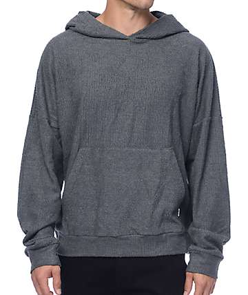EPTM. Sherpa Terry Charcoal Hoodie