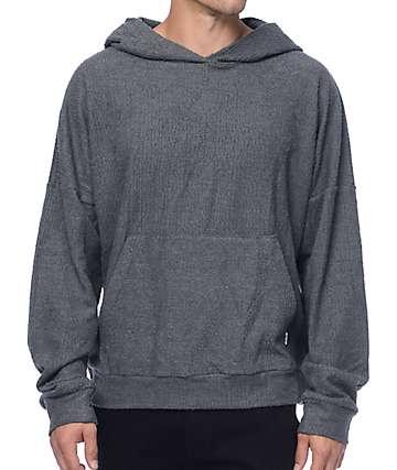 EPTM. Sherpa Terry sudadera con capucha en color carbón