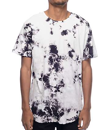 EPTM. Snow Storm Tie Dye Elongated T-Shirt