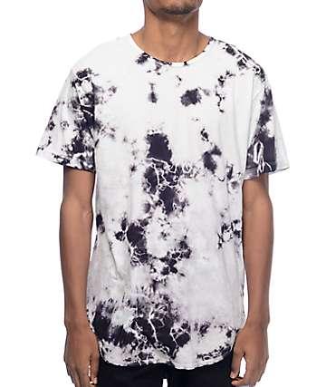 EPTM. Snow Storm camiseta alargada con efecto tie dye