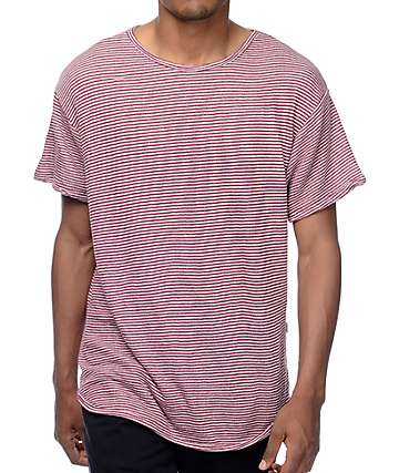 EPTM. Stripe French Terry Burgundy T-Shirt