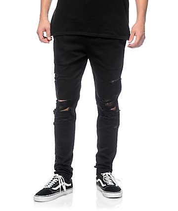 EPTM. Thrashed pantalones asargados en negro