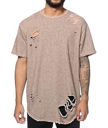 EPTM. Thrasher camiseta alargada de rizo francés