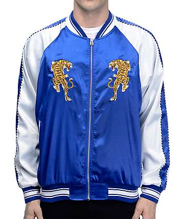 EPTM. Tiger Blue & White Souvenir Jacket