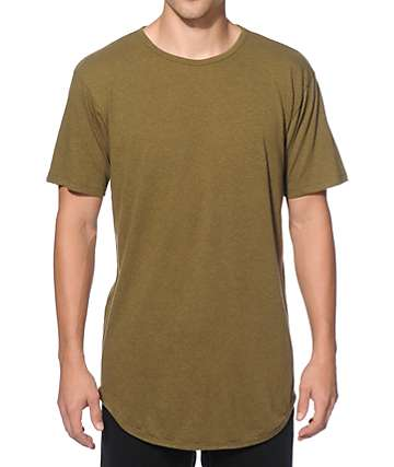 EPTM. Tri-Blend Elongated Long T-Shirt