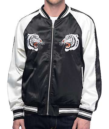 EPTM. White Tiger Black & White Souvenir Jacket