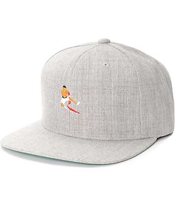 EVERYBODY SKATES Boxer Grey Snapback Hat