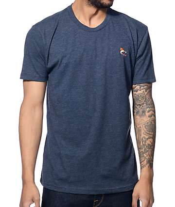 EVERYBODYSKATES Boxer Embroidery Navy T-Shirt