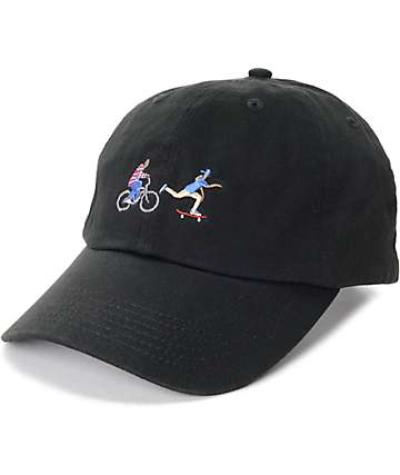 EVERYBODYSKATES Chase Black Baseball Hat