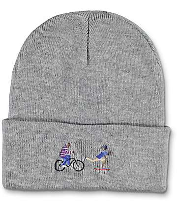 EVERYBODYSKATES Chase Grey Beanie
