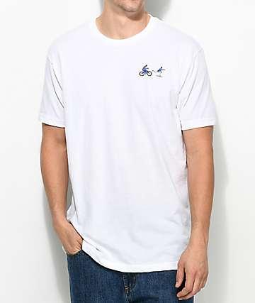 EVERYBODYSKATES Chase camiseta blanca bordada