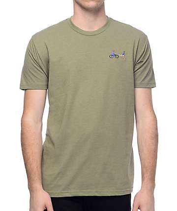 EVERYBODYSKATES Chase camiseta en color verde olivo