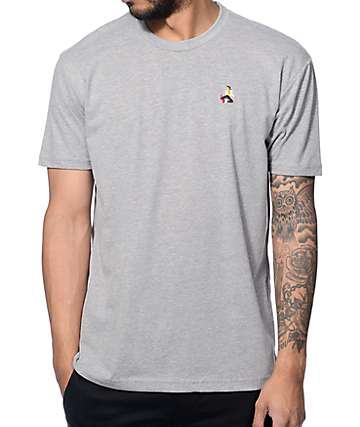 EVERYBODYSKATES Method Embroidery Heather Grey T-Shirt