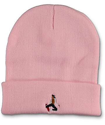 EVERYBODYSKATES Method Pink Beanie