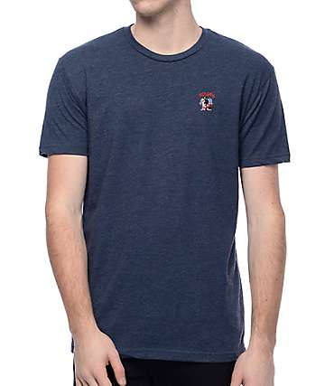 EVERYBODYSKATES Squad Navy Embroidered T-Shirt