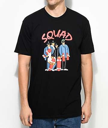 EVERYBODYSKATES Squad camiseta negra
