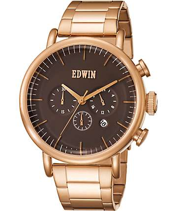 Edwin Element IP Rose Gold Watch