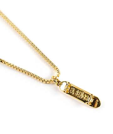 El Senor Skateboard Pendant Necklace
