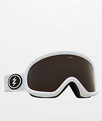 Electric Charger Gloss White Brose Snowboard Goggles