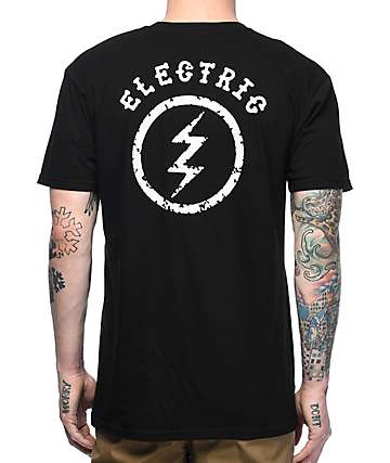 Electric Circle Bolt Black T-Shirt