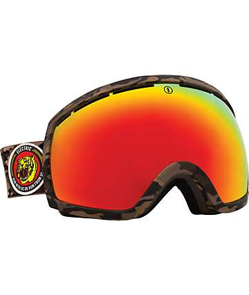 Electric EG2 Combat Camo Bronze & Red Chrome Snowboard Goggles