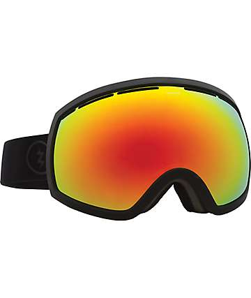 Electric EG2 Matte Black Brose Red Chrome Snowboard Goggles