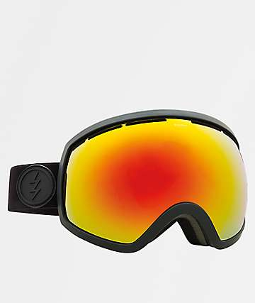Electric EG2 Matte Black Red Chrome Snowboard Goggles